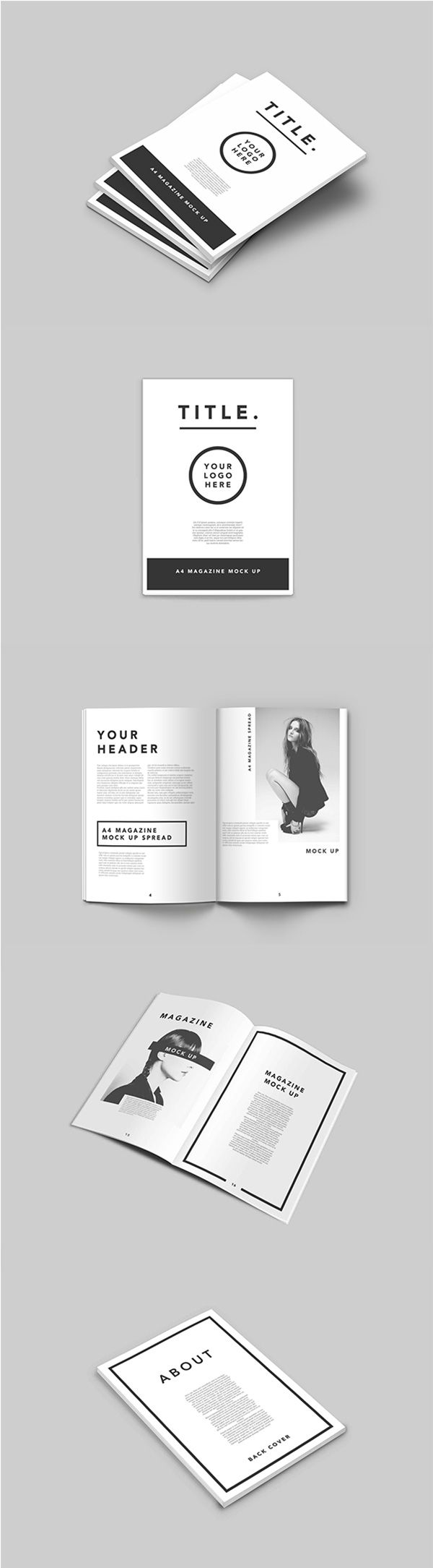 75+ Free PSD Magazine, Book, Cover & Brochure Mock-ups | Template ...