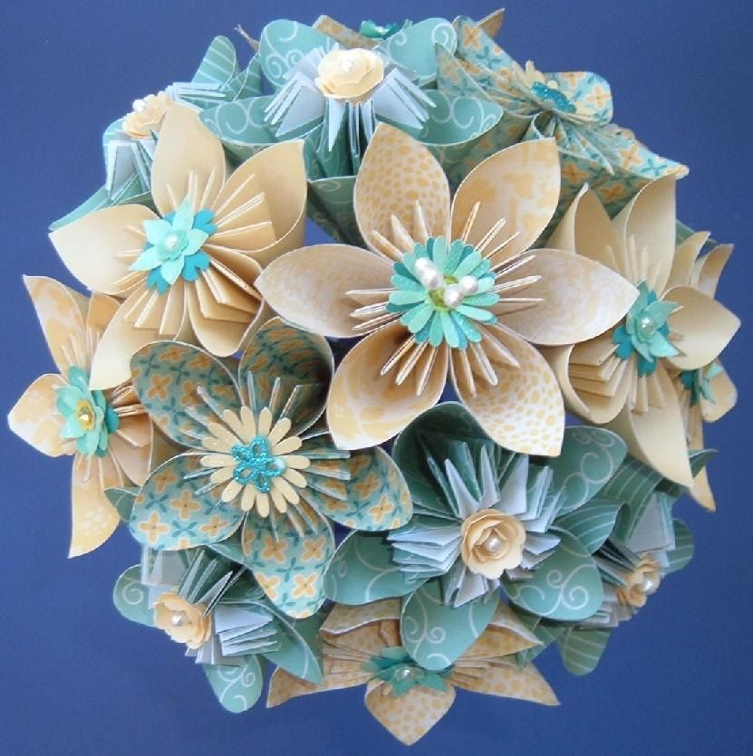 Paper Flower Bouquet - 15 stems Kusudama - Daisies, Roses, and ...