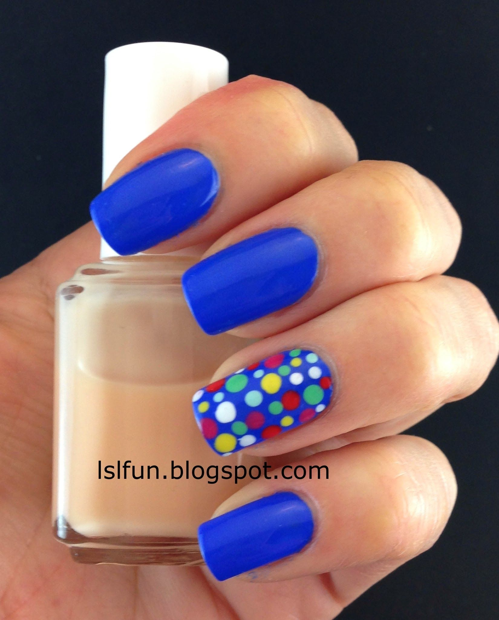 Nail Art For Beginners : 3 simple nail designs using dotting tool #lslfunblog #dottednails