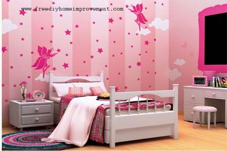 Beautiful Princess Pink Paint Color Schemes For Teenagers Girls Bedroom Walls Decorating Designs Ideas