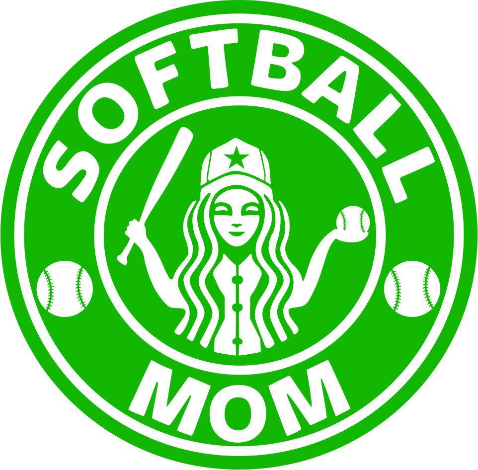 Softball and Baseball Mom SVG and PDF Baseball mom