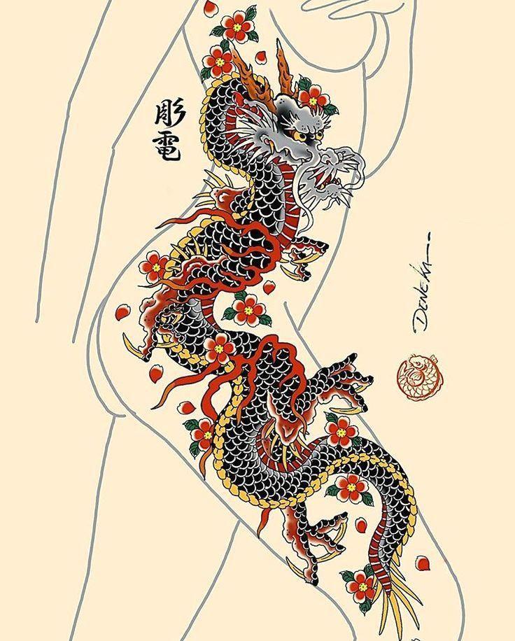 #dragon  #ryu  #peonies  #peony  #flowers  #sleevetattoo…   #sleeve #available!! Ryu and peonies sleeve available!! ✌? - For bookings denekahoriden@gmail.com!! -