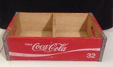 RARE Vintage 70's Coca Cola Wooden Delivery Crate 32 oz Bottles Coke
