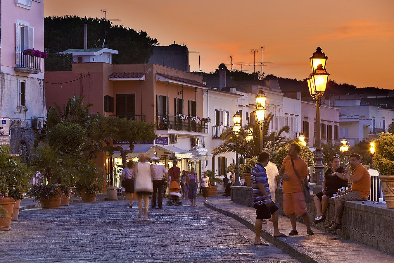 Ischia Island Gulf Of Naples Italy Alley Street