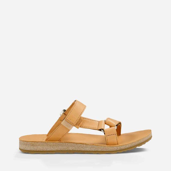Sandals Brown Leather Sandals Slide Women's Slide Teva Women