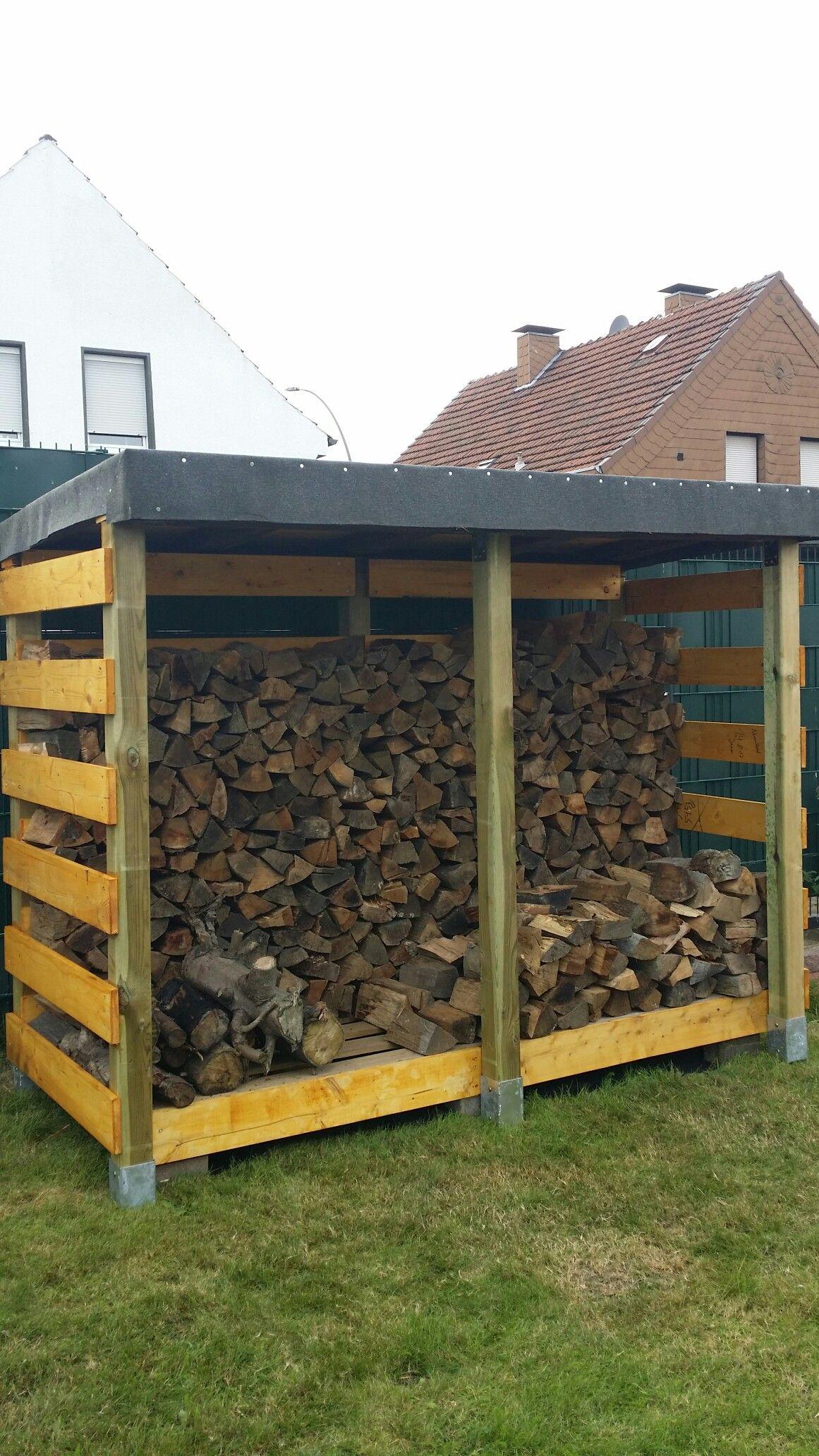 Kaminholzunterstand  KAMINHOLZUNTERSTAND DIY | Záhradná architektúra | Pinterest