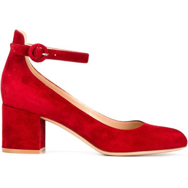low heel pumps - Red Gianvito Rossi zL0wM4s4