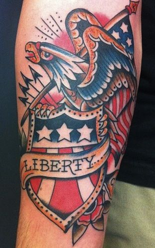 Have Been Contemplating An American Themed Piece For A While I Like The Combo Of The Bald Eag With Images Traditional Tattoo Sleeve Patriotic Tattoos American Flag Tattoo