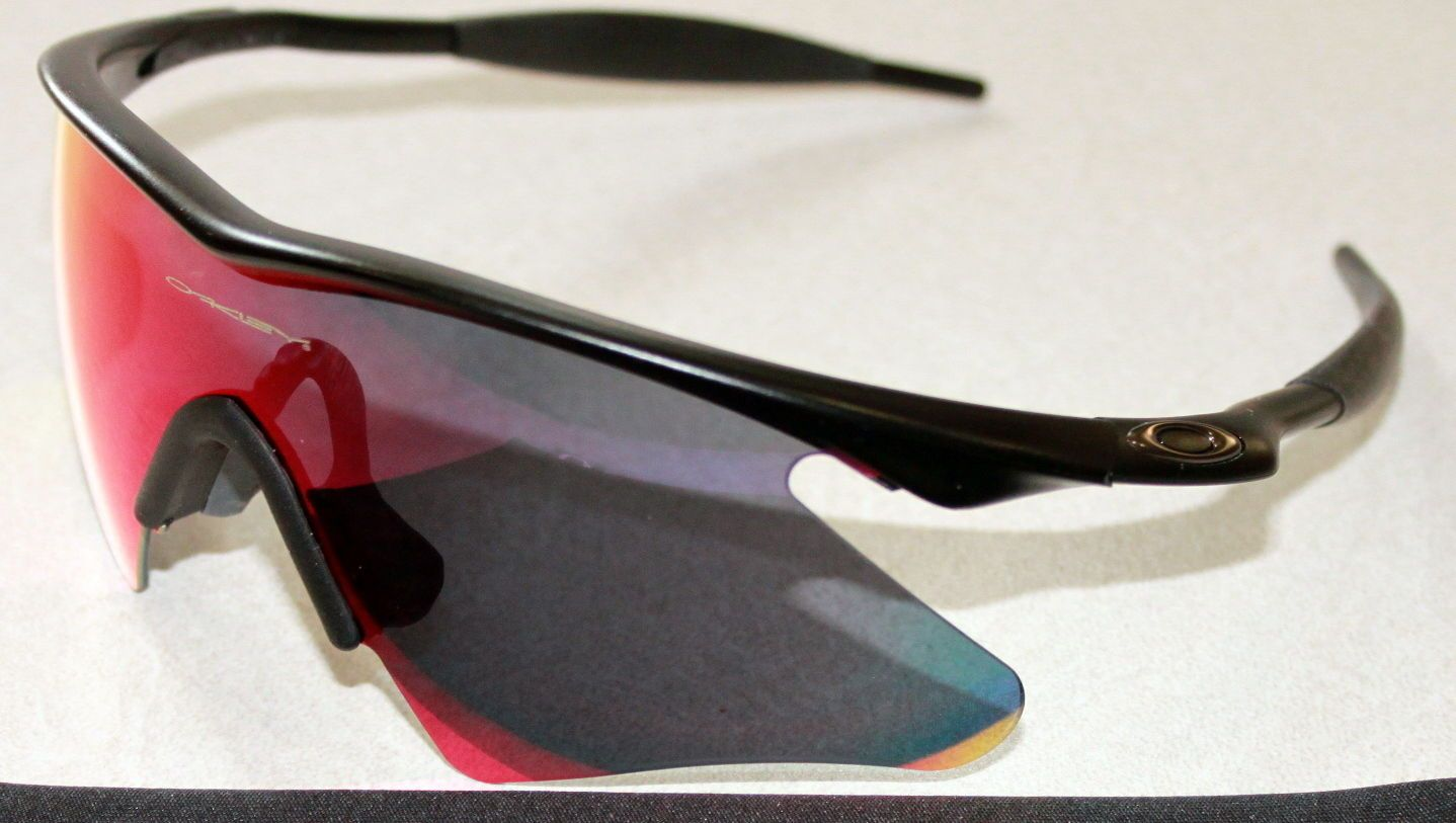 44c23593c9 OAKLEY M FRAME MATTE BLACK W  POSITIVE RED IRIDIUM HEATER LENS SUNGLASSES