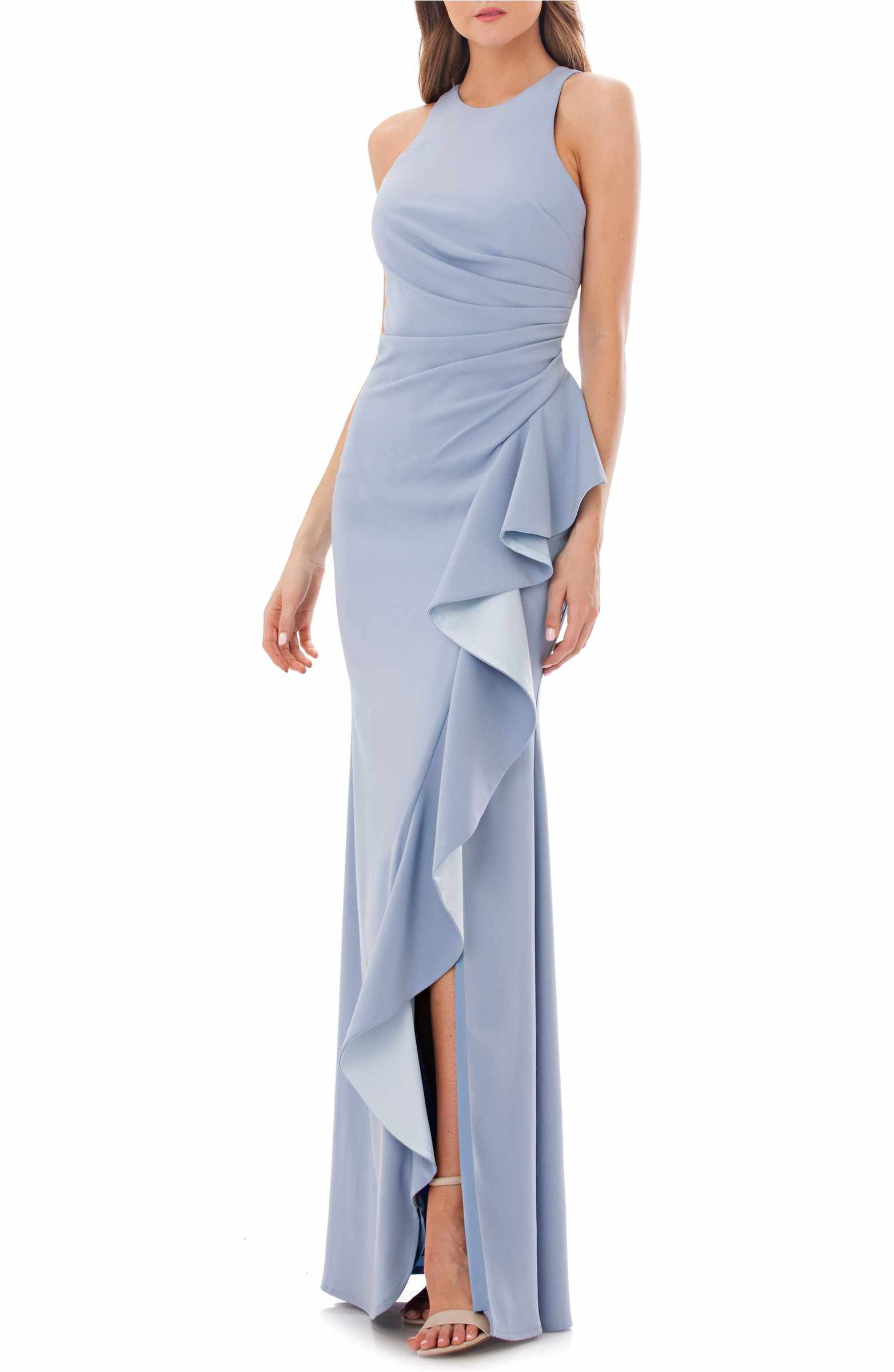 Main Image - Carmen Marc Valvo Couture Infusion Ruffle Gown ...