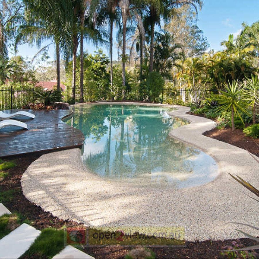 10 Easy Garden Plans You Can Build Yourself To Complete Your Landscape Tropical Garden Designs Swimming Pool Designs Beautiful Home Gardens Beach Entry Pool