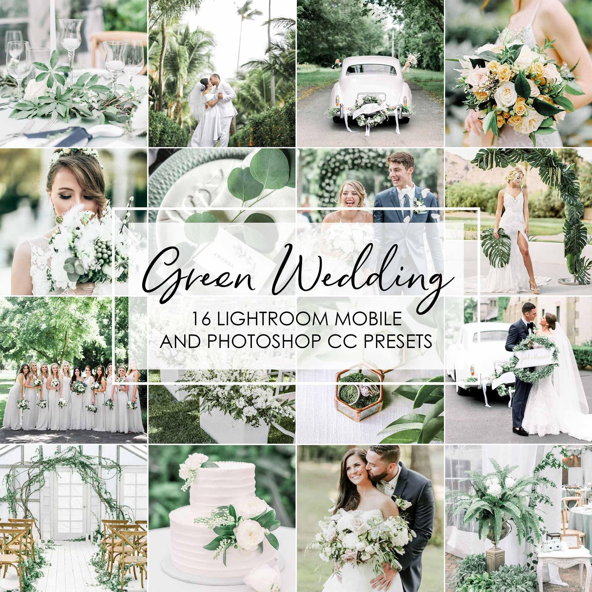 Lightroom Presets 16 Presets Green Wedding Wedding Etsy In 2020 Wedding Presets Portrait Presets Photoshop Presets Free