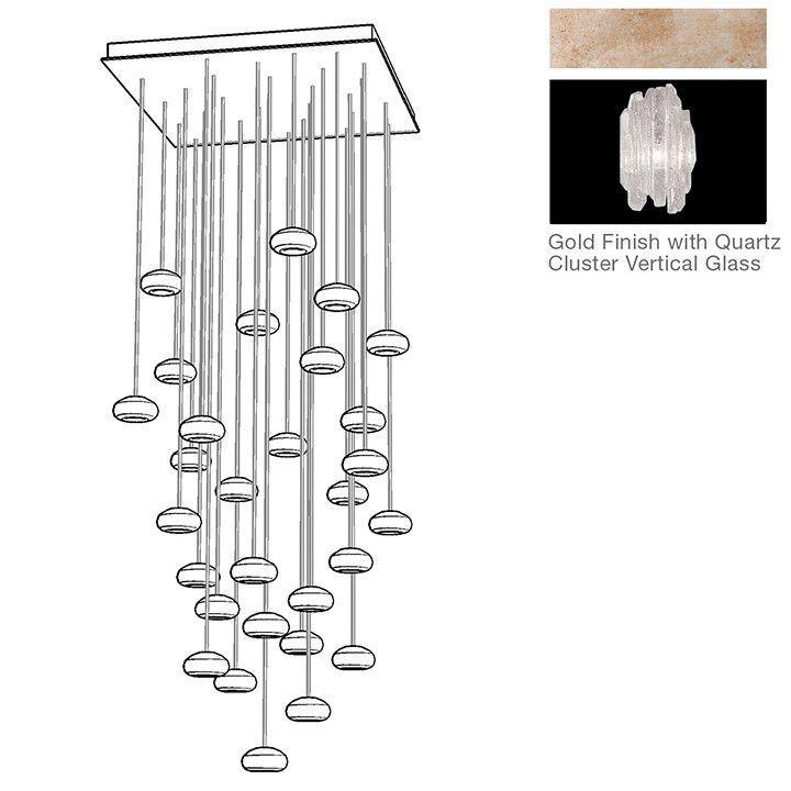 Natural Inspirations 30 Light Cascade Pendant