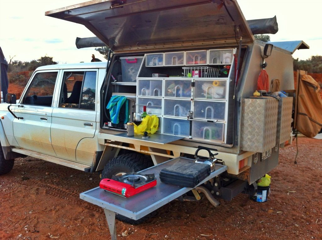 Canopy Fridge Slide Under Tray Drawer Step Unit | expedition | Pinterest | Canopy Ute and 4x4 & Canopy Fridge Slide Under Tray Drawer Step Unit | expedition ...