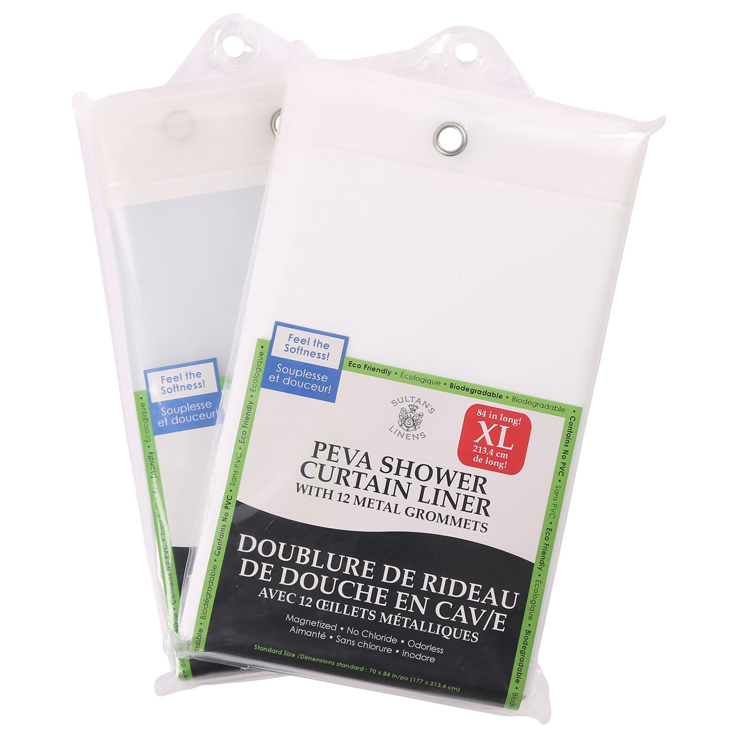 Extra long peva shower curtain liner long heavy gauge peva