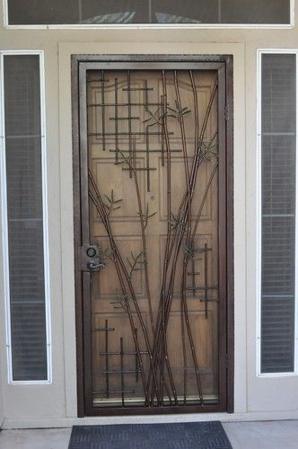 Bamboo Security Door Contemporary Entry Phoenix Grizzly