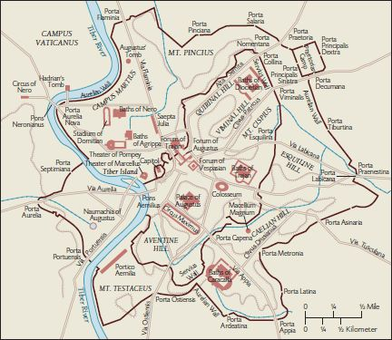 Map of Imperial Rome | Maps of the City of Rome | Ancient Rome, Rome ...