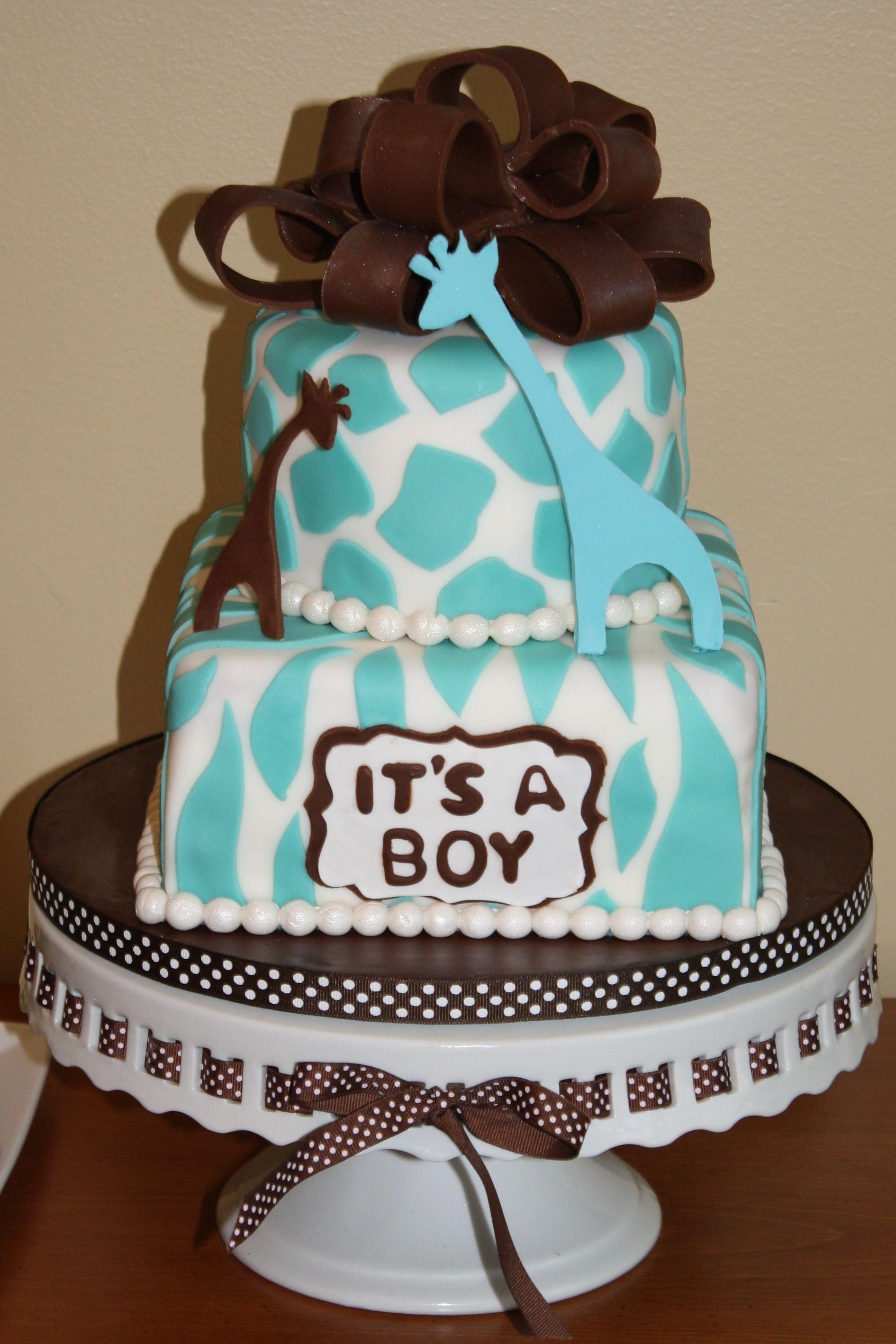 Wild Safari Baby Shower Cake Except Girl