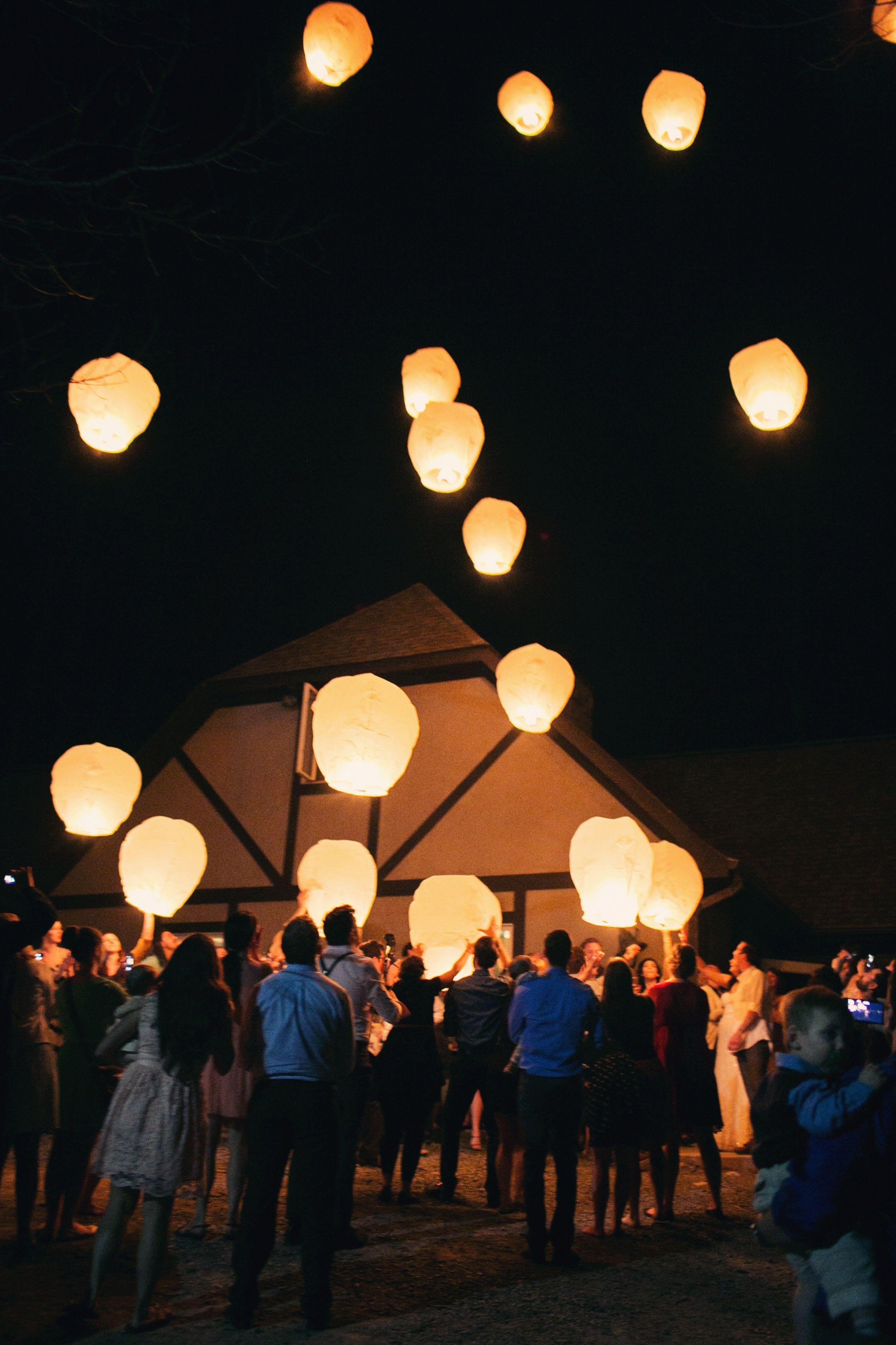 Paper Lantern Release | Ginny Corbett Photography | Theknot.com ... for Paper Lantern Photography  575lpg
