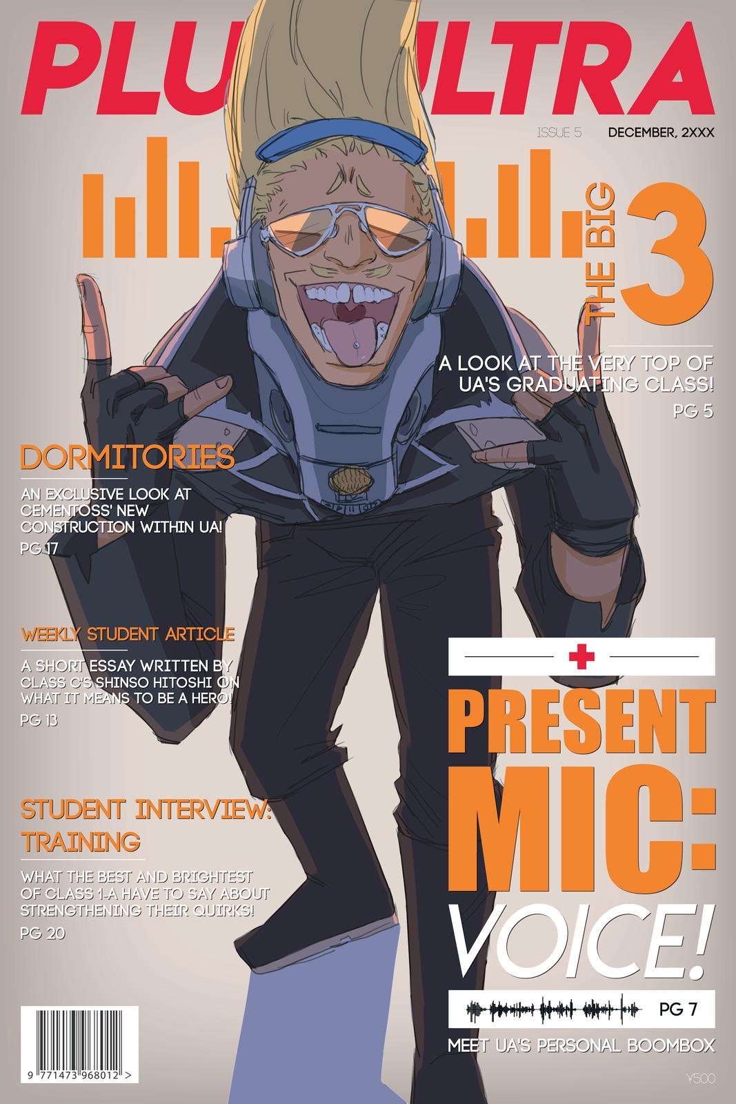 Bnha Present Mic Magazine Poster Buko No Hero Academia My Hero My Hero Academia
