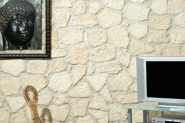 Plaquette De Parement Beige Pour Murs Interieurs Ep De 20 A 30 Mm