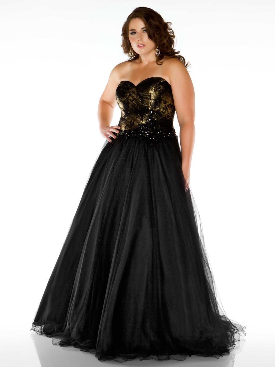 Black prom dress plus sized