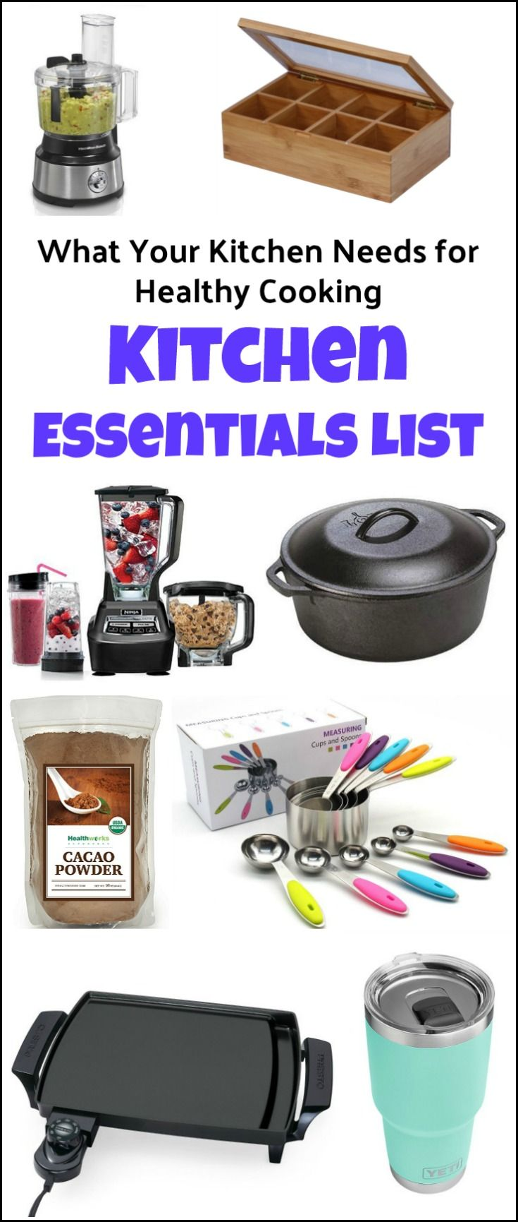 What Your Kitchen Needs for Healthy Cooking | Kitchen items list ...