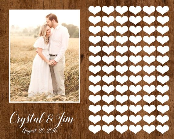 Wedding Guest book Alternative, Photo Wedding Guestbook, Photo Wedding Poster, Shabby Chic Wedding, Rustic Wedding guest book, wooden poster
