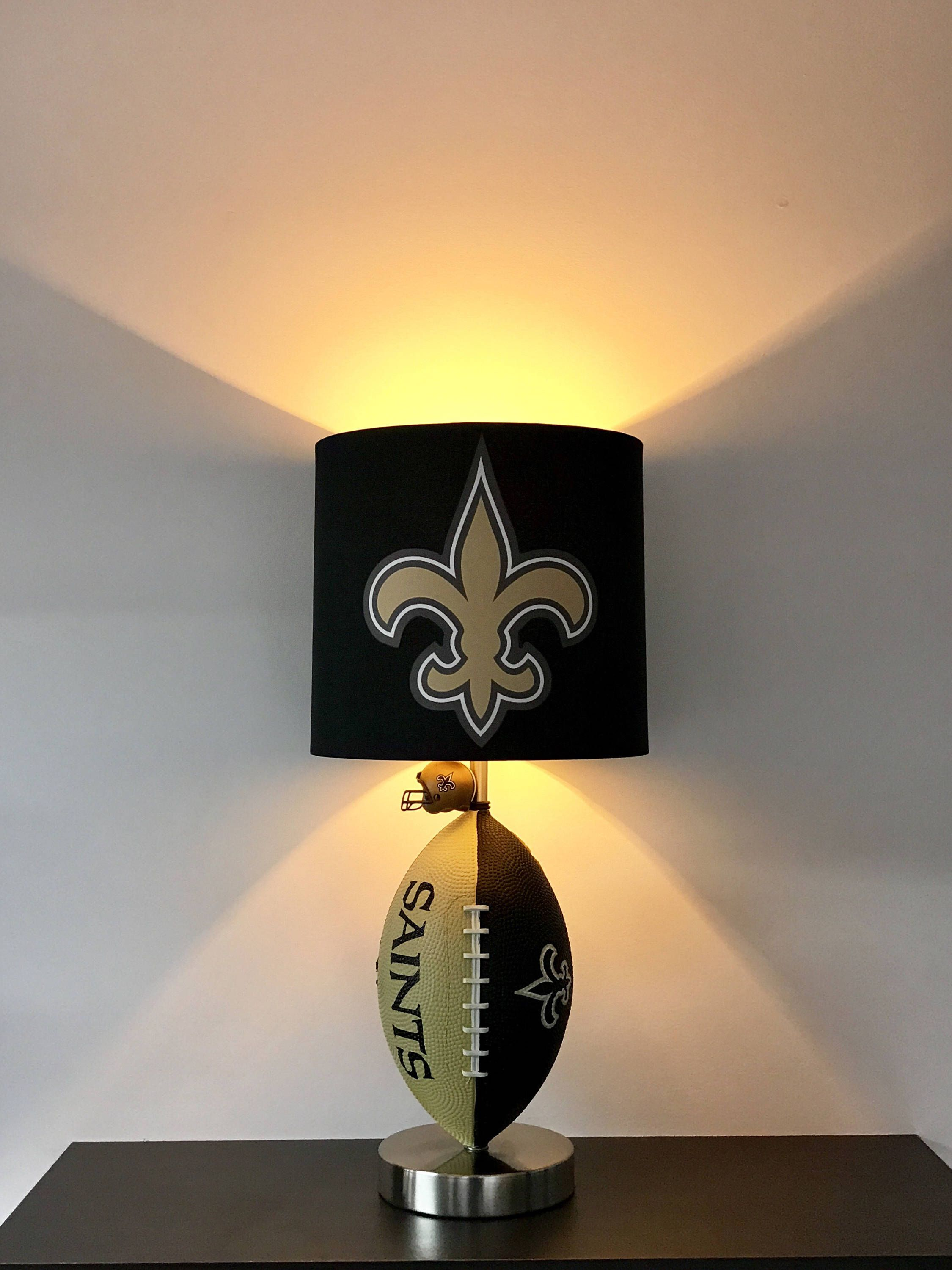 Nfl New Orleans Saints Lamp Man Cave Decor Sports Night Light Table Kids Unique Gift Football