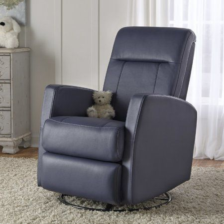Harper Swivel/Glider Recliner Grape Rehide, Purple