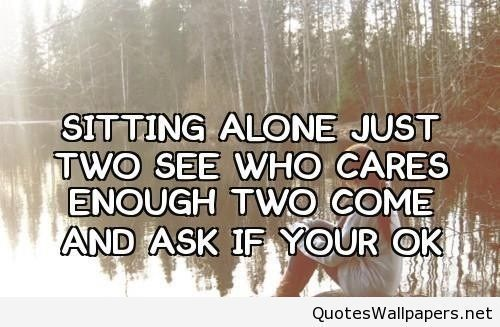Inspiring Sitting Alone Girl Quote The Best Well Being Quotes