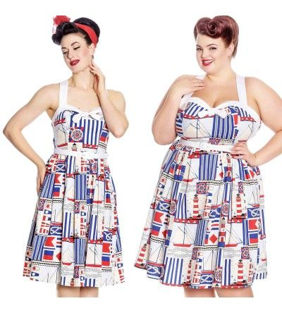 eebf13d826 Hell Bunny Lighthouse Nautical 50 s Dress