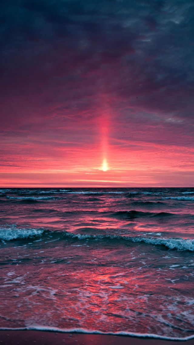 Pinkish sunset iPhone 5s Wallpaper Download iPad