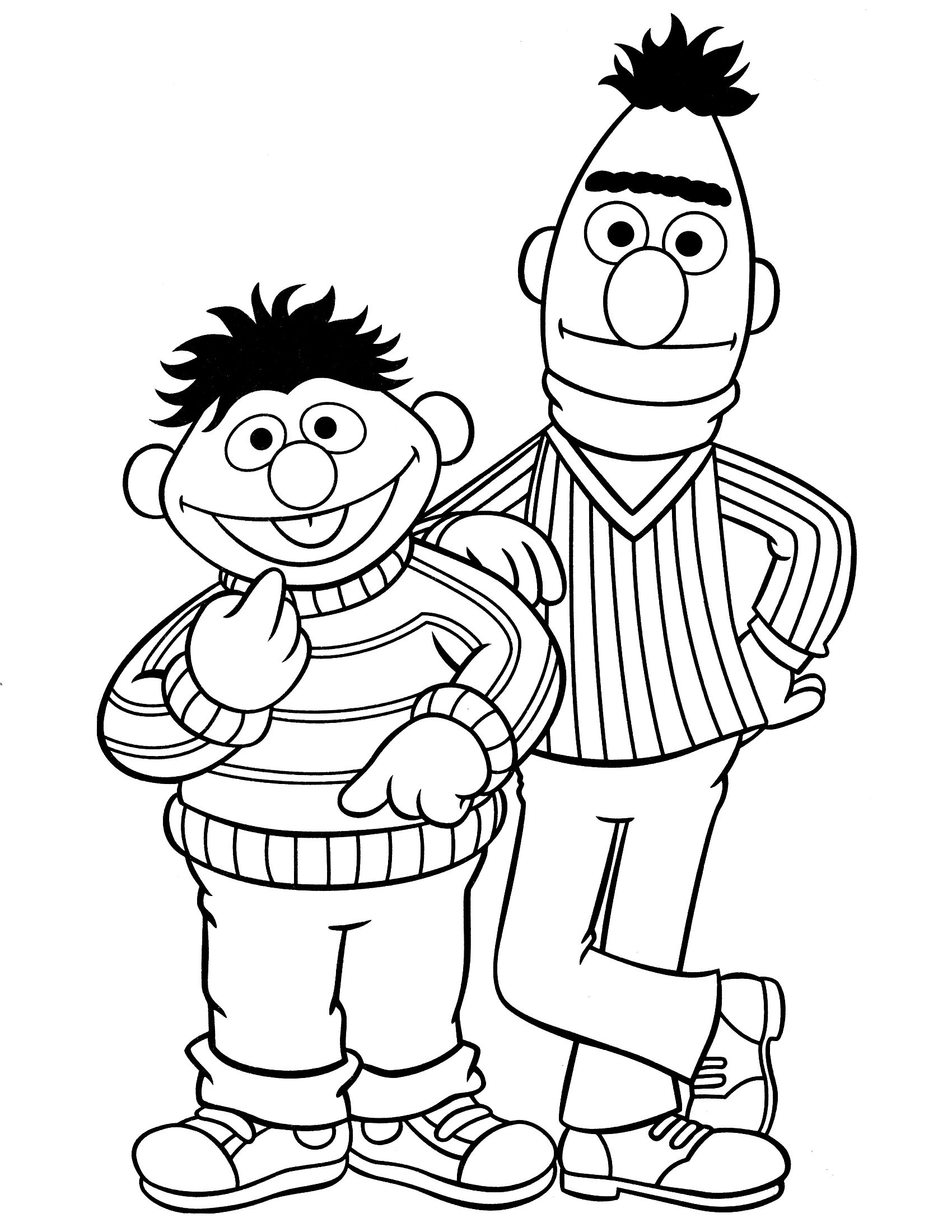 Here we provide some black and white sesame street coloring pages ...