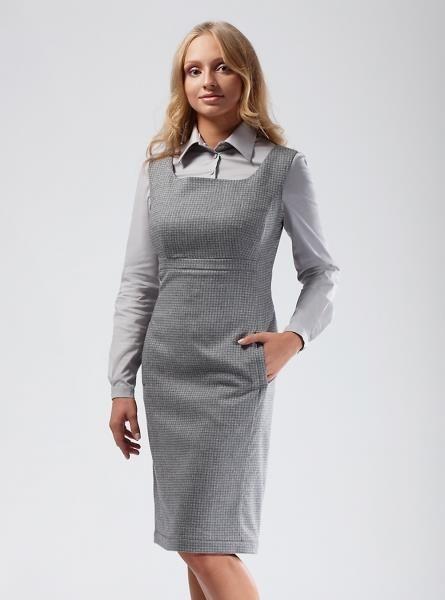 9b06b068f1f Офисный платье сарафан из полушерсти