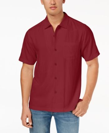 332b5e2003 Tommy Bahama Men's Weekend Tropics Silk Shirt, Created for Macy's - Red XXXL