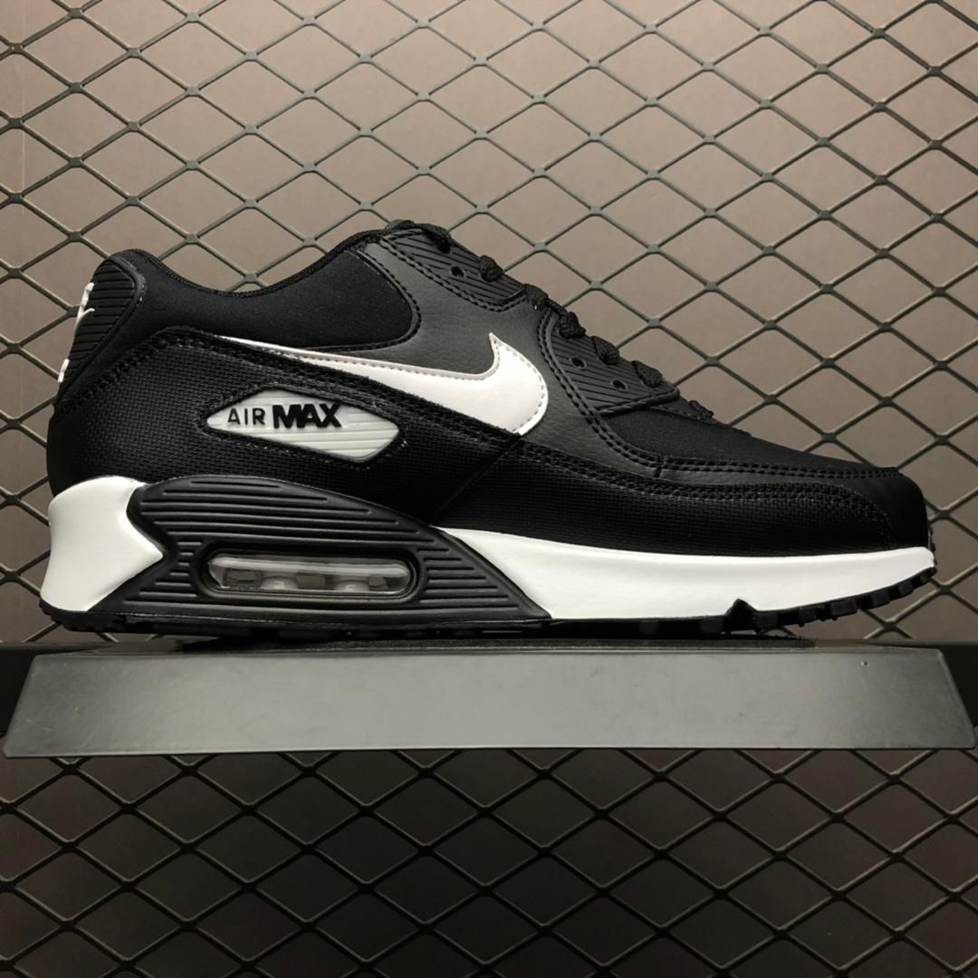 Nike Air Max 90 Essential White Black Men Sport Shoes 325213