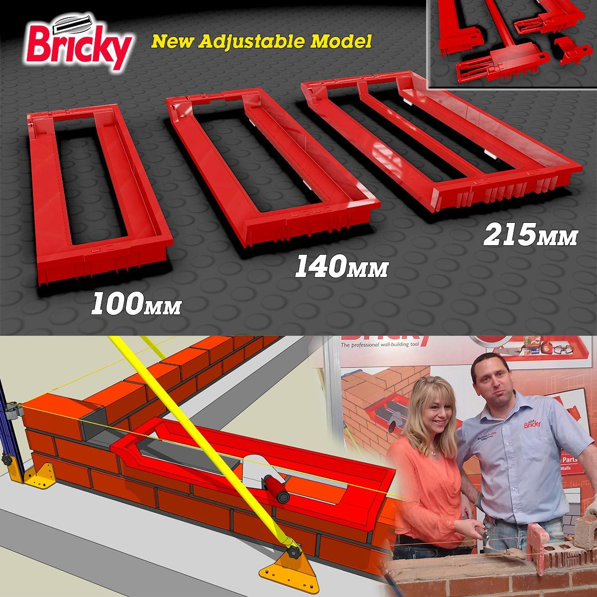 The New Bricky Wall Building Tool Construction Tools Tools Diy Dvd