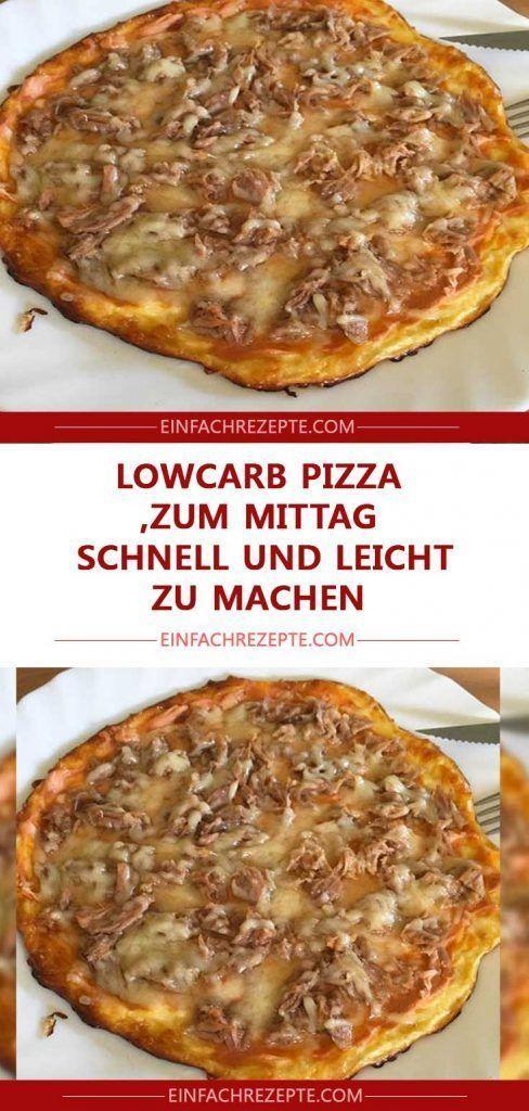 LowCarb Pizza zum Mittag schnell und leicht zu machen    LowCarb Pizza zum Mittag schnell und leicht zu machen