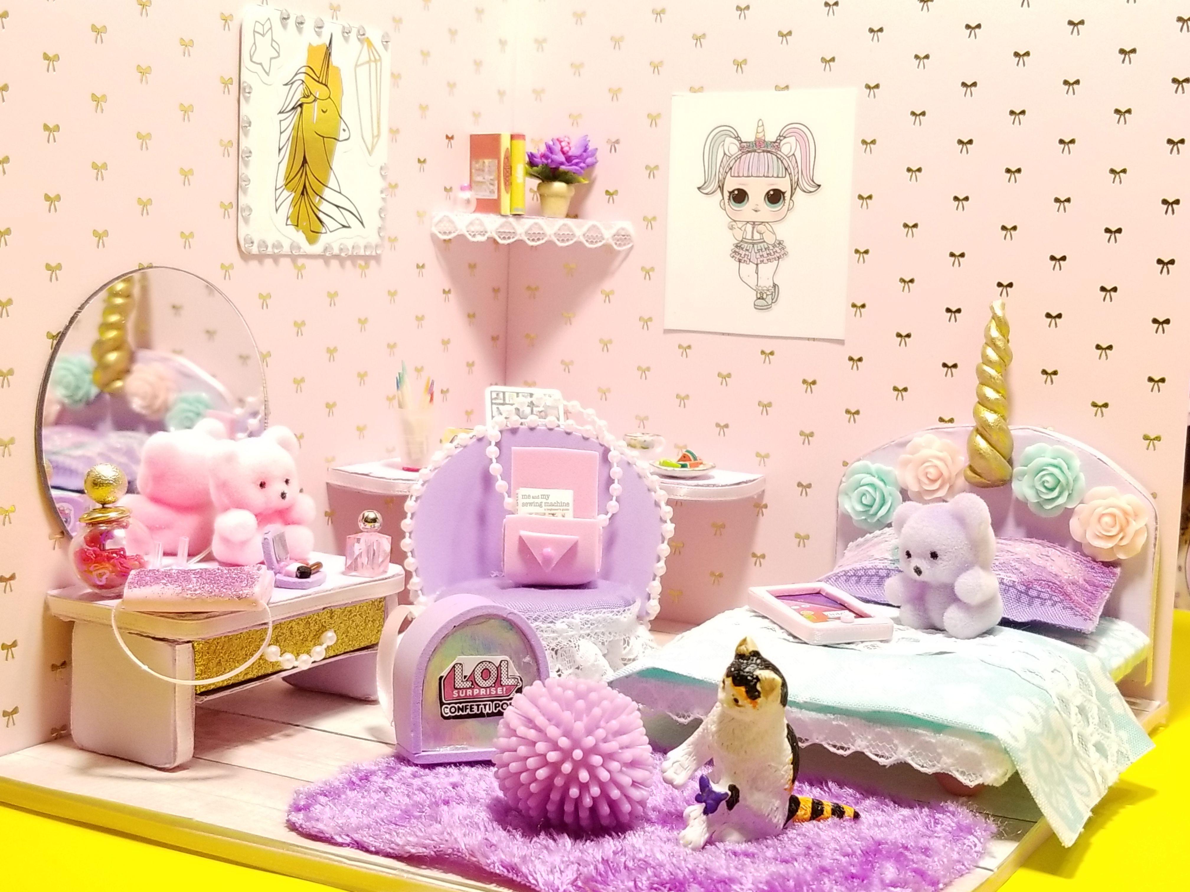 картинки комната для кукол лол одному