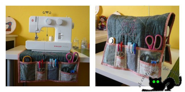 Este es uno de los indispensables para todo el que tenga una máquina de coser. Una funda en la que además puedes guardar todos los utensilios de costura. ¿Quieres saber cómo se hace?