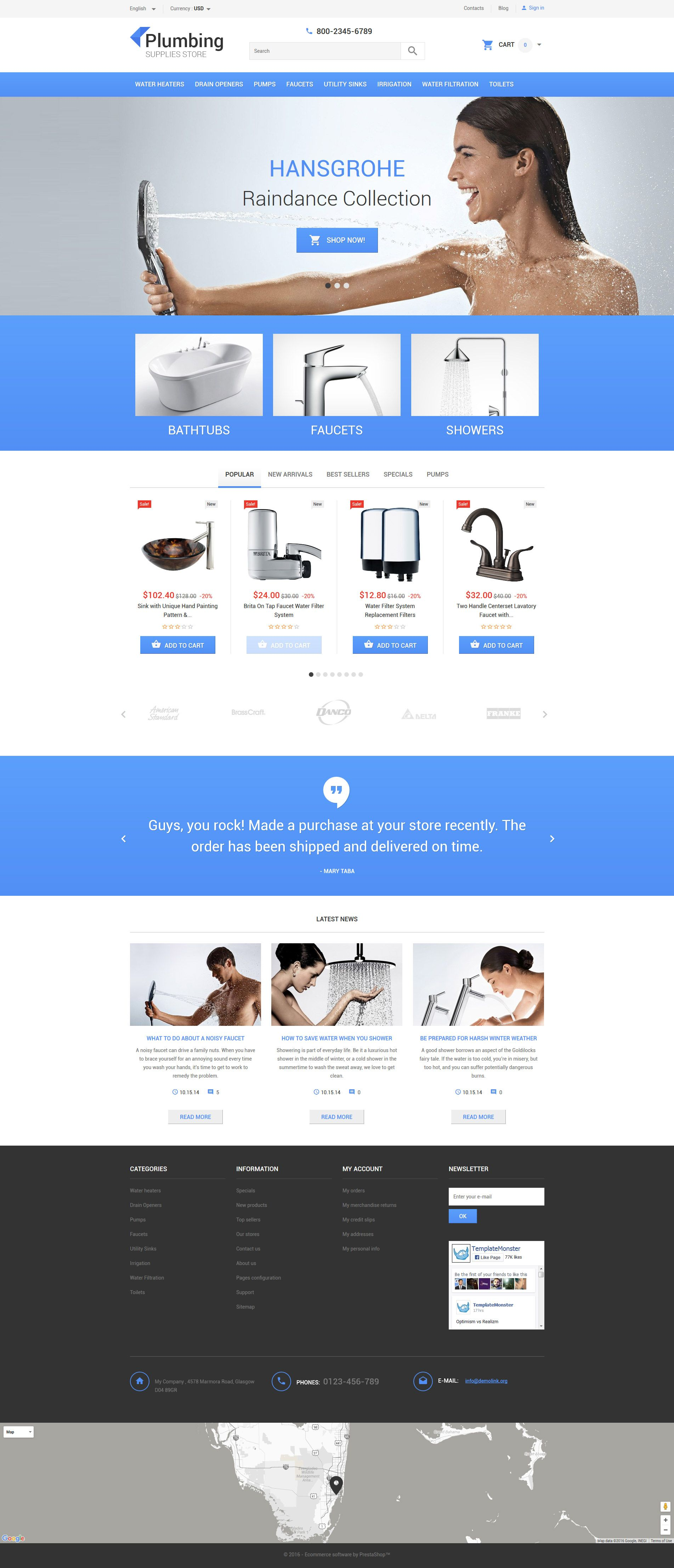 Plumbing supply prestashop theme httptemplatemonster more than website templates available choose your theme and build a professional looking site today solutioingenieria Choice Image