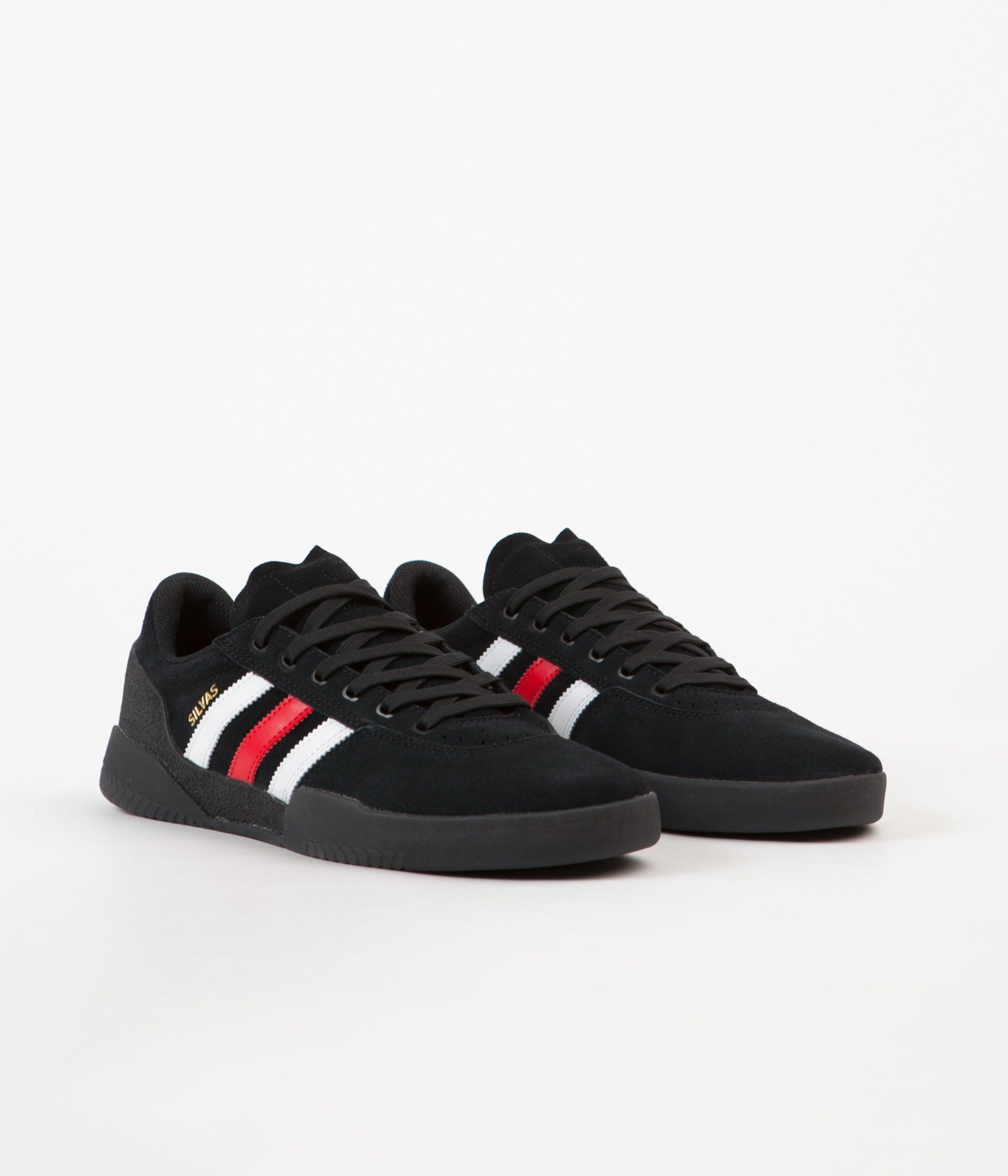 release date c1876 0704b Adidas Miles Silvas City Cup Shoes - Core Black   Scarlet   FTW White