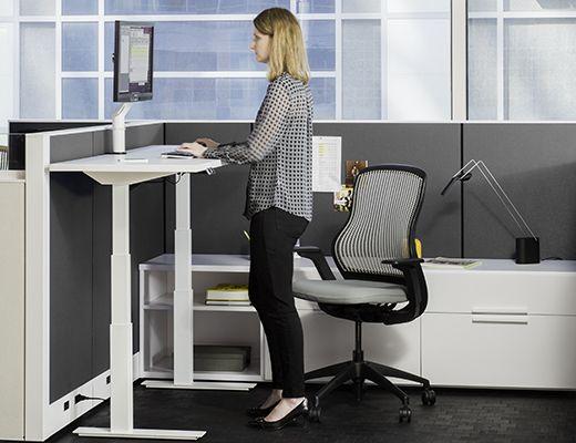 Tone Height Adjustable Tables Knoll Adjustable Office Desks Adjustable Height Table Home Office Furniture Desk