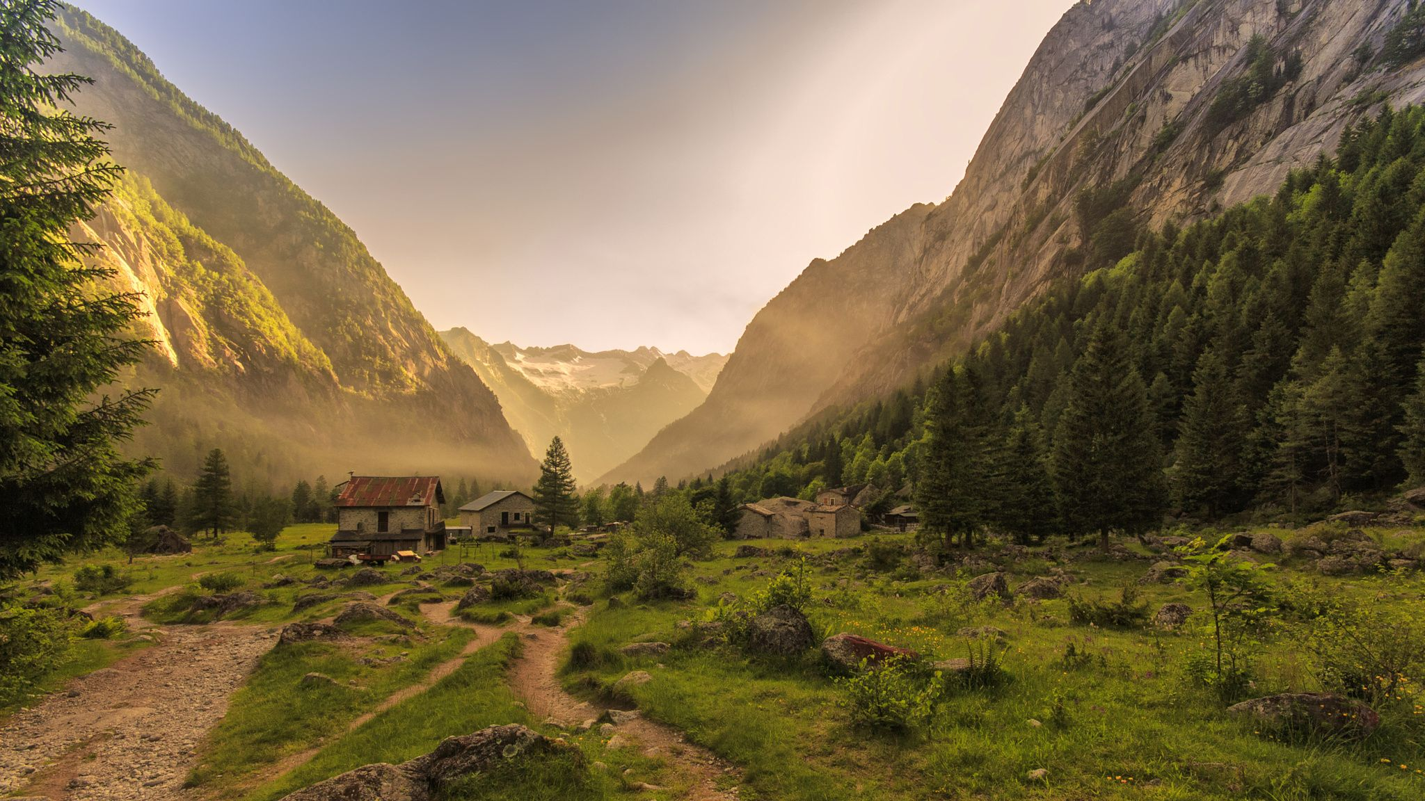The Village, and the Valley of Light__Italy by Francesco
