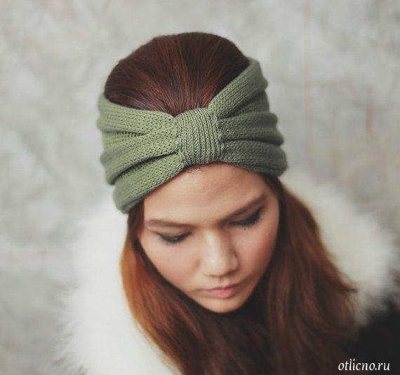 повязки на голову вязаные повязки на голову вязание вязание для