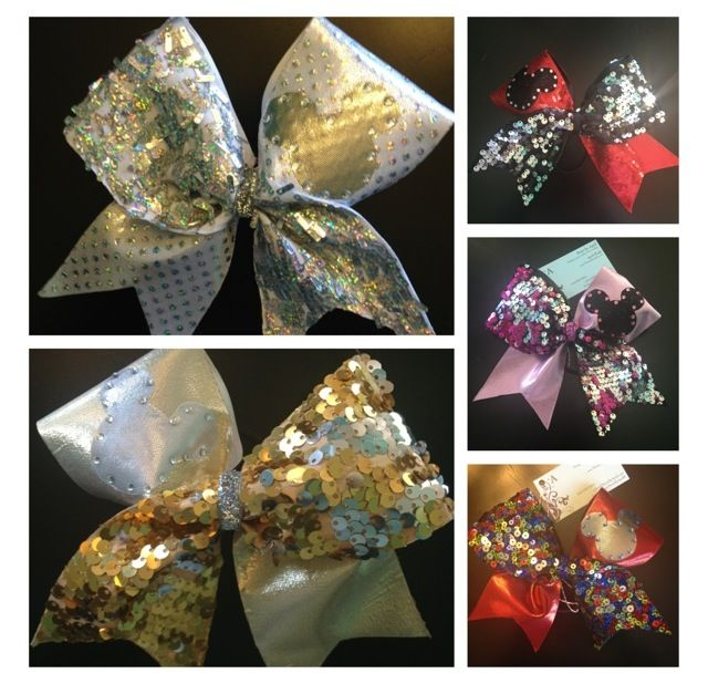 Our Disney Mickey Mouse Cheer Bows @ BowsByApril.com