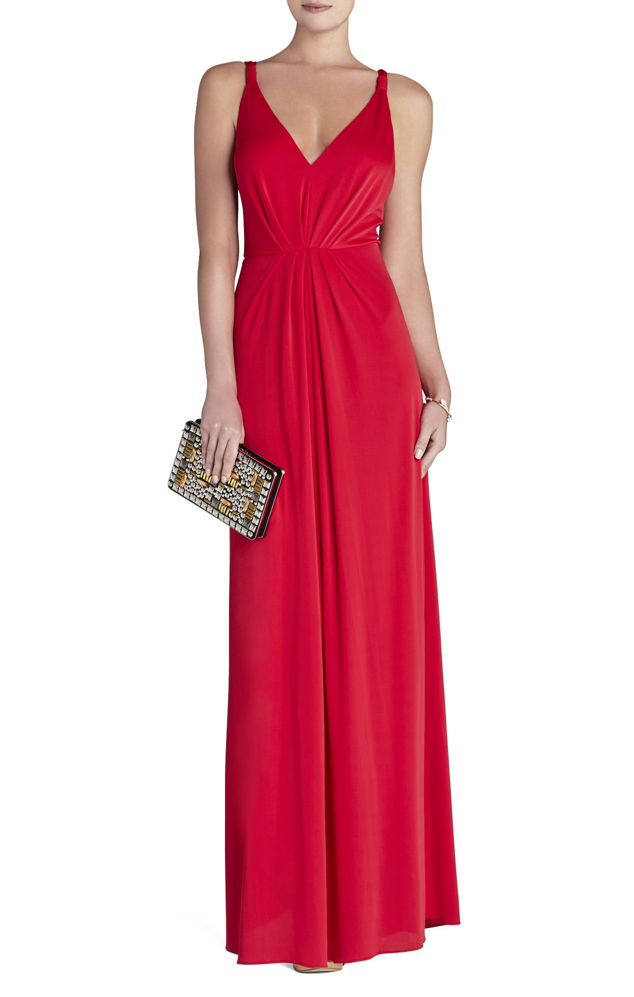 394fb694df BCBG Hali V-Neck Gown Dress