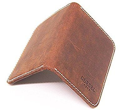 DUEBEL Full-grain Genuine Leather Slim Front Pocket Wallets Minimalist Thin...