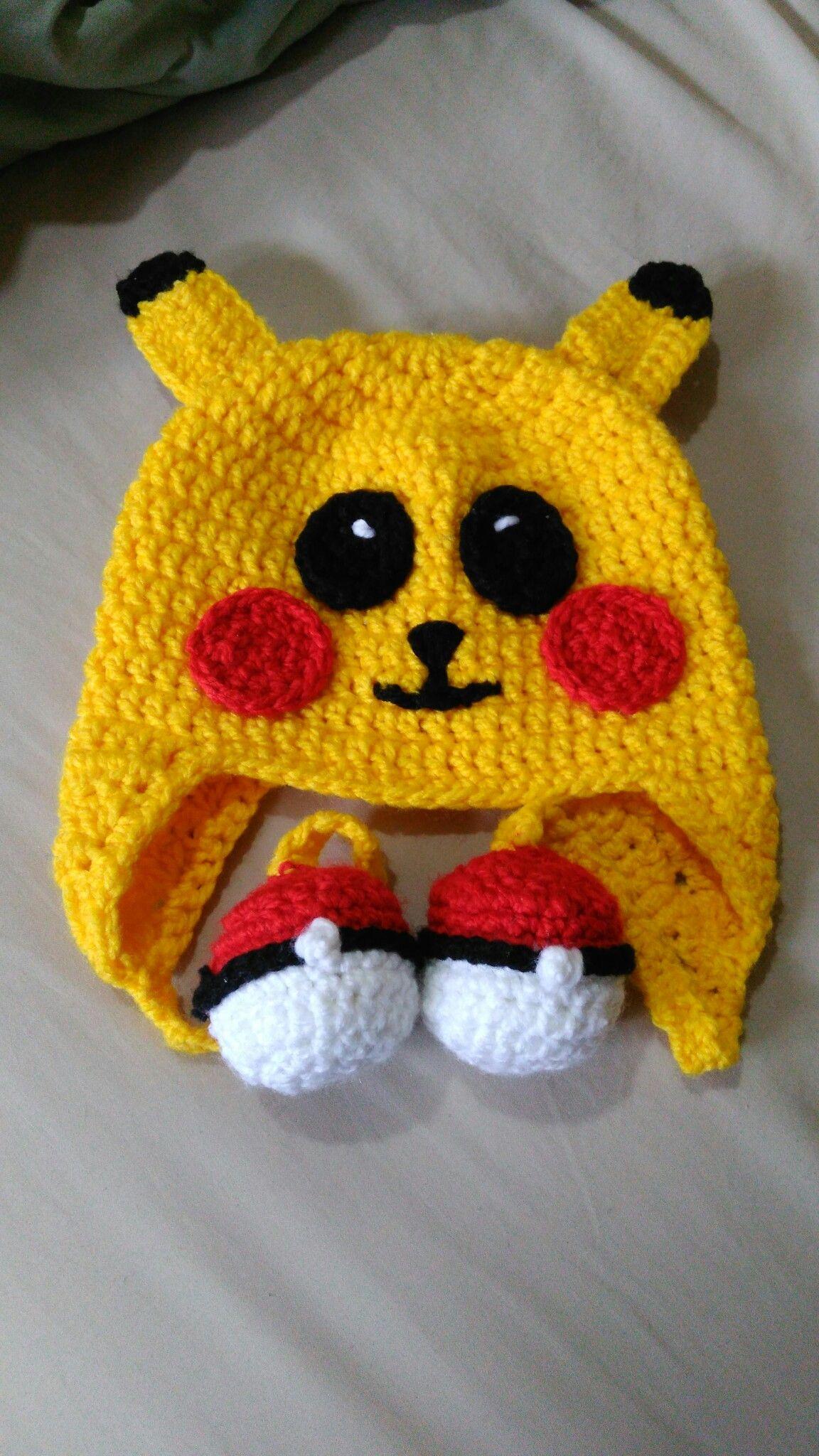 Pikachu/gorro tejido